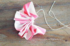 ruffle fabric flowers tutorial