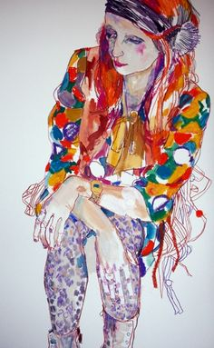 Julie Verhoeven-That's so colorful and fantastic, that's a really cool drawing…