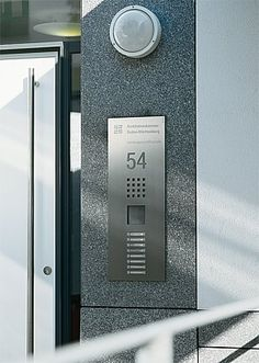 SSS SIEDLE Steel - All the buttons are backlit.