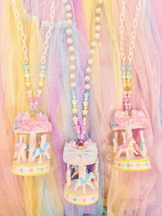 Fairy Kei Carousel Necklaces.
