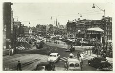1949. View of De Muntplein/Het Rokin in Amsterdam. Photo Jeroen Epema.  #amsterdam #1949 #Muntplein #Rokin