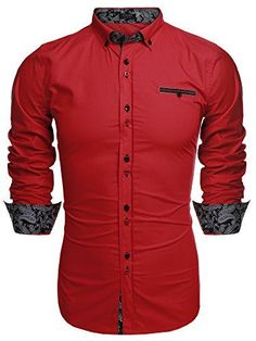 Coofandy Men's Fashion Slim Fit Dress Shirt Casual Shirt ... http://www.amazon.com/dp/B01D9GOT26/ref=cm_sw_r_pi_dp_H.Gixb1WRS2EH