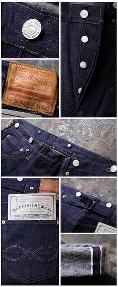 NEW ARRIVAL : WAREHOUSE | Pronto denim - backpatch and PF