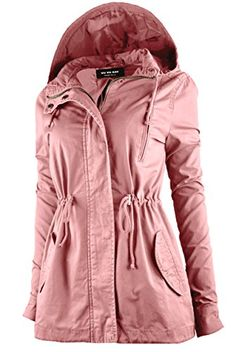 "New Trending Outerwear: ViiViiKay Womens Cotton Anorak Lightweight Utility Parka Jackets with Drawstring 43 MAUVE S. ViiViiKay Womens Cotton Anorak Lightweight Utility Parka Jackets with Drawstring 43 MAUVE S   Special Offer: $26.99      488 Reviews ""PLEASE REFFER TO SIZE CHART IMAGES FOR EXACT SIZING!! It's the time of the year to grab a MUST HAVE Parka Jackets!! Looking for Everyday Anorak..."