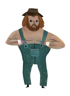 Hillbilly Jim. Illustrated by Mark Hoffman. Represented by i2i Art Inc. #i2iart