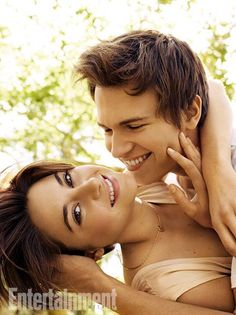 Shailene Woodley and Ansel Elgort from #TheFaultInOurStars. See 8 more exclusive EW portraits here: http://www.ew.com/ew/gallery/0,,20811434_20812265,00.html