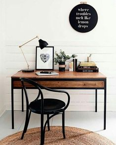 Inspiration Home Office Design Ideas. Hence, the requirement for home offices.Whether you are planning on including a home office or remodeling an old room right into one, here are some brilliant home office design ideas to aid you start. Workspace Design, Office Workspace, Home Office Design, Home Office Decor, Diy Home Decor, Office Ideas, Office Nook, Office Inspo, Small Workspace