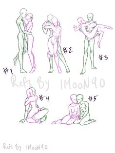 Couple pose references by Imoon90