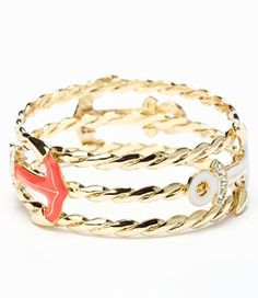 Lilly Pulitzer gold rope anchor bracelet