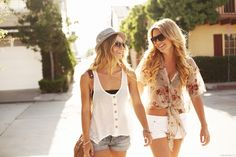 ahh summer! :) love the blouse and white shorts to perfect for beach
