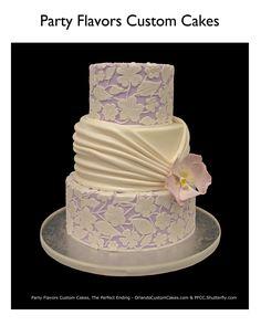Lavander buttercream cake by @Orlando Cake Guy @ Party Flavors Custom Cakes