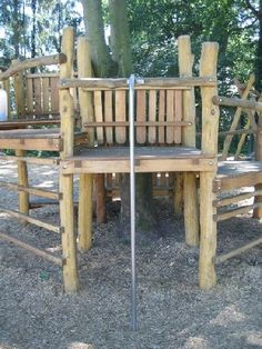 nature playscape climber   wooden climbing structure