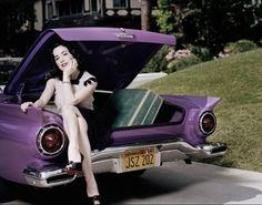 Women matching cars