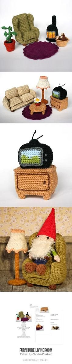 Furniture Livingroom amigurumi pattern