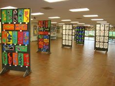 Art show displays...