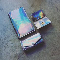 Iridescent delights  Fresh from our Brooklyn workshop ready to be sold @youngxable Holiday pop-up Shop. Alongside a beautiful range of independent designers defiantly a place to check out for all your holiday gifts  #books #journals #wallets #cardholders
