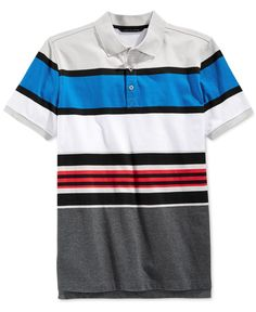This stylish Core Stripe polo from Sean John adds a nice pop of color to casual, cool looks. Polo Tee Shirts, Striped Polo Shirt, Golf Shirts, Camisa Polo, Men Online, Casual Outfits, Menswear, Stripes, Men Stuff