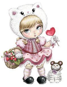 Resultado de imagen para dibujos de muñecas bonitas