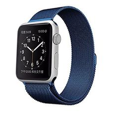 Apple Watch Band HuanlongTM Milanese Magnetic Closure Clasp Bracelet Metal Watch Band, Milanese Loop Stainless Steel Mesh Replacement Wrist Band Strap for Apple Watch Sport Edition Blue) Apple Watch Stainless Steel, Stainless Steel Mesh, Stainless Steel Jewelry, Bracelet Clasps, Metal Bracelets, Metal Watch Bands, Apple Watch Bands 42mm, Wearable Technology, Apple Watch Series 1