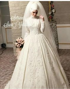 Head Design and Porcelain Makeup; SunaYurtalan💕 – Best Of Likes Share Muslim Wedding Gown, Wedding Wear, Dream Wedding Dresses, Wedding Suits, Wedding Attire, Wedding Gowns, Wedding Cakes, Wedding Hijab Styles, Pakistani Wedding Dresses