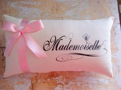 Mademoiselle Pillow, French Decor, Paris, French County Home, Cottage Decor, Home Decor, Decorative Pillow, Housewares