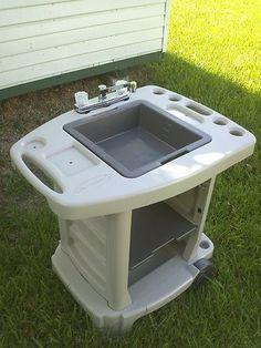 Portable Outdoor Sink Garden Camp Kitchen Camping RV New | eBay