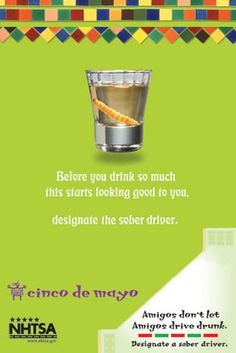 Please remember that buzzed driving is drunk driving. Please designate a driver. -NHTSA image