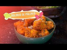 Receita completa de bolinho de polenta no Chefs em Ação. Polenta, Ethnic Recipes, Food, Youtube, Conch Fritters, Serving Bowls, Savory Snacks, Stir Fry, Entrance Halls