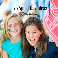 75 Spirit Day themes, ideas and activities to pump up students throughout the school year.