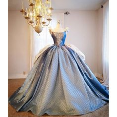 Cinderella Inspired Ball Gown ❤ liked on Polyvore featuring sash belt