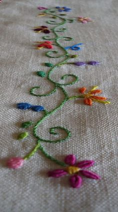 Easy Embroidery Stitches For Beginners enough Embroidery Hoop Christmas Wreath if Embroidery Floss Individual Colors whenever Embroidery Definition; Embroidery Stitches For Trees Embroidery Leaf, Hand Embroidery Stitches, Silk Ribbon Embroidery, Hand Embroidery Designs, Embroidery Techniques, Cross Stitch Embroidery, Machine Embroidery, Knitting Stitches, Hand Stitching