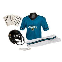 Jacksonville Jaguars Youth NFL Deluxe Helmet and Uniform Set