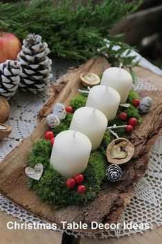 120 magical christmas centerpieces that you can do in no time 35 Christmas Advent Wreath, Magical Christmas, Noel Christmas, Christmas Is Coming, Rustic Christmas, Winter Christmas, Christmas Themes, Christmas Bedroom, Holiday