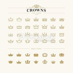 Iconography minimalist crowns