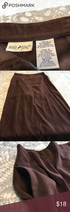 1f7cf675e Women's White Stag Brown Maxi Skirt Women's size 8 Brown Maxi Skirt. Left  side zipper