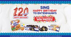 We're celebrating our 120th Birthday and we want YOU to get the presents! Enter the Entenmann's I SING ON THE CAKE #Sweepstakes right here. Go ahead…It's a piece of cake! Or a donut! Or a Little Bite!