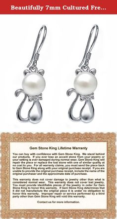 Beautifully 7mm Cultured Freshwater Pearl 925 Silver Kitty Earrings. This beautiful item is brand new and comes with complimentary gift packaging appropriately selected to match the item you purchased. The packaging ranges from dainty foam insert packaging to luxurious leather insert cherry wood boxes. Every order is fully insured regardless of value. This insurance protects you against damage or the loss of your item while in transit. The Shipping and Handling fees include the insurance…