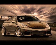 Fotos do carro de pouso baixo Toyota Celica GTS