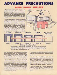 USA American WW2 War Civil Defense Poster A3+ HQ Reprint Bomb Shelter #Vintage