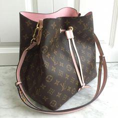 b6b6396f32cd Louis Vuitton lv woman drawstring bag monogram with pink interior   Louisvuittonhandbags Louis Vuitton Heels