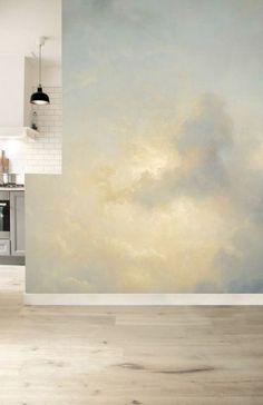 Home Interior Hallway KEK Amsterdam Golden Age Clouds Ceiling Murals, Wall Murals, Wall Art, Cloud Ceiling, Cloud Wallpaper, Bedroom Wallpaper Clouds, Cloud Bedroom, Bedroom Murals, Paint Designs
