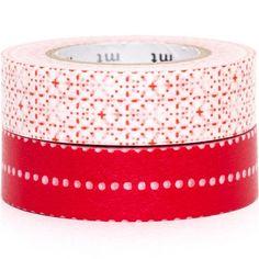 mt Washi Masking Tape deco tape set 2pcs with patterns