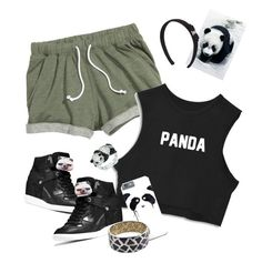 """#panda"" by ari-ari-xoxo ❤ liked on Polyvore featuring MICHAEL Michael Kors, Panda, Kevin Jewelers, Salvatore Ferragamo and Roberto Coin"