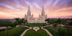 San Diego, California - LDS Temple (Aerial) by Alan Fullmer