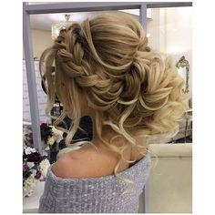 Beautiful Wedding hair bun ❤ liked on Polyvore featuring beauty products, haircare, hair styling tools, hair, hair styles and blonde