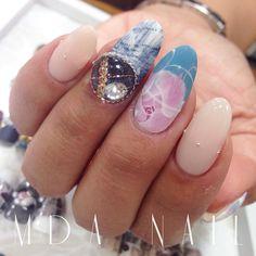 昨日の@札幌セミナー デモネイル♪ こんなのお作りしましたyo♡  #mda #mdanail #nail#gelnail#nailswag#naildesign#japanese#love#kawaii#trendart#ジェルネイル#ネイルアート#銀座ネイル#美甲#札幌セミナー#デモで出来上がったネイル#かわいい