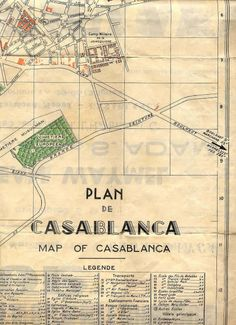 PLAN DE CASABLANCA DE 1950 | Papyrandonneur's Blog PYRENEES ALPES ATLAS CASA MAROC CHOSES DE LA VIE Casablanca, Maps M, Atlas, City Maps, Africa, Blog, Morocco, Blogging