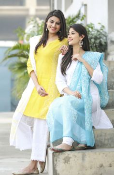 the all new bright and breezy range of available at Dress Indian Style, Indian Dresses, Indian Outfits, Stylish Dresses, Simple Dresses, Fashion Dresses, Simple Outfits, Casual Dresses, Girls Dresses