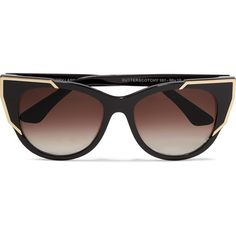 Thierry Lasry Butterscotchy cat-eye acetate and metal sunglasses ($510) ❤ liked on Polyvore featuring accessories, eyewear, sunglasses, black, tortoiseshell cat eye sunglasses, tortoise shell cat eye sunglasses, metal sunglasses, cateye sunglasses and vintage cat eye glasses