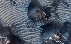 Two Generations of Windblown Sediments on Mars This colorful scene is situated in the Noctis Labyrinthus region of Mars, perched high on the Tharsis rise in the upper reaches ofTwo Generations of Windblown Sediments on Mars Link for more info: http://www.nasa.gov/content/two-generations-of-windblown-sediments-on-mars/#.UkGkCr_NVDg